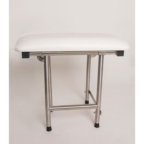 Folding Rectangular Shower Seat with Swing Down Legs