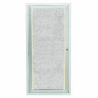 Outdoor Enclosed Aluminum Framed Bulletin Board with LED Lighting