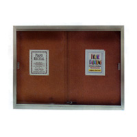 Enclosed Bulletin Boards with Sliding Doors and Tempered Glass