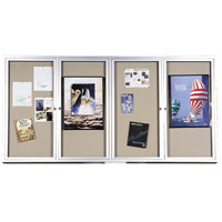 Deluxe Bulletin Board Cabinets with Hinged Doors