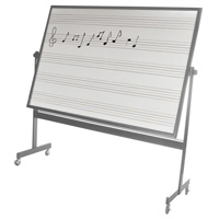 Music Staff Lined Freestanding Reversible Board