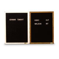 Aluminum and Wood Framed Letterboards