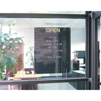 Open/Closed Letterboards
