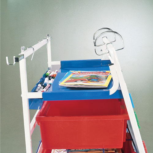 Copernicus Expanded Storage Royal Reading Writing Center with Storage Tub,Shelfs